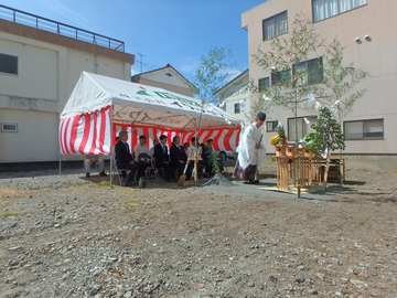 「地鎮祭」を行いました。【沼津市真砂町】